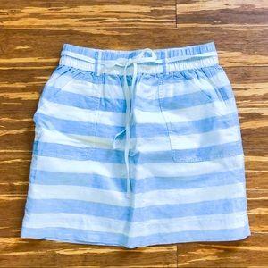 Striped Loft linen skirt